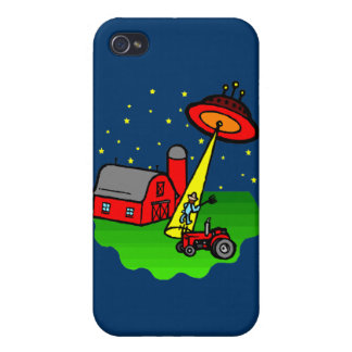 Farmer Alien Abduction iPhone 4 Case
