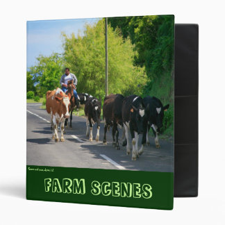 Farmer and cows binder