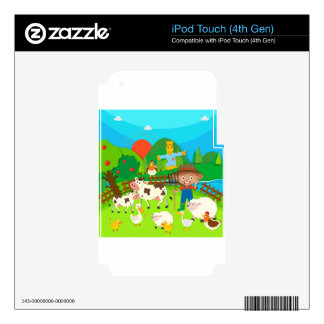Farmer and farm animals iPod touch 4G skin