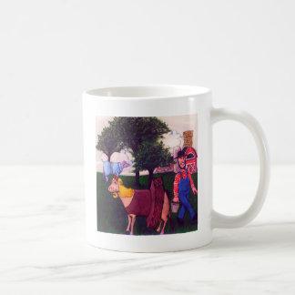 Farmer and Fun-loving Cows Coffee Mug