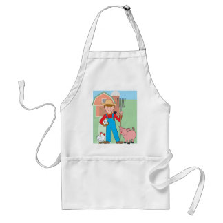 Farmer and Pig Adult Apron