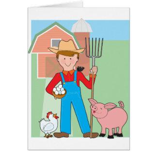 Farmer and Pig Card