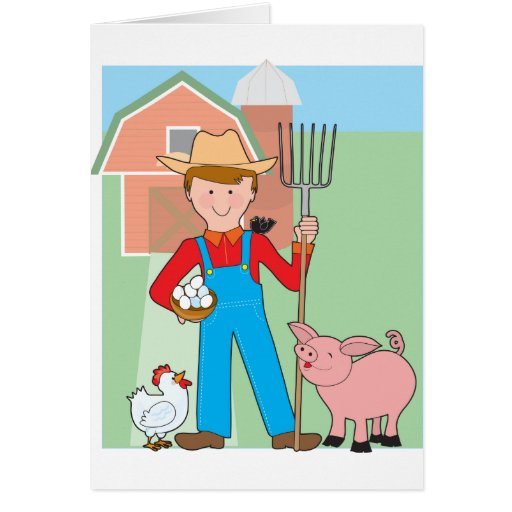 Farmer and Pig Cards