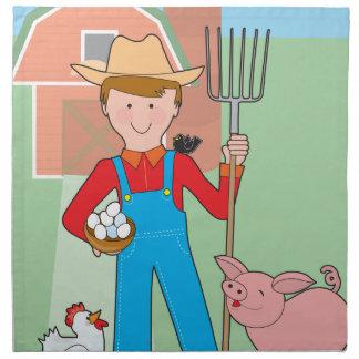 Farmer and Pig Cloth Napkins