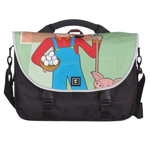 Farmer and Pig Laptop Bag
