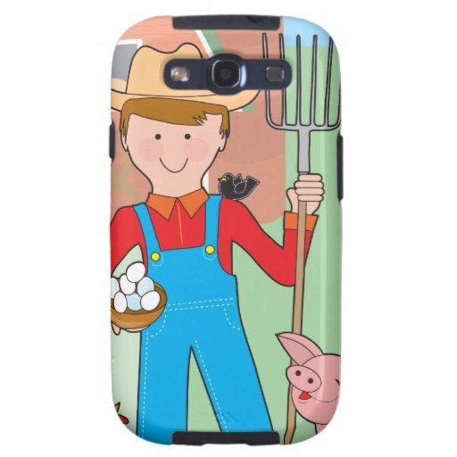 Farmer and Pig Samsung Galaxy S3 Case