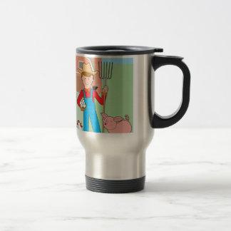 Farmer and Pig Travel Mug