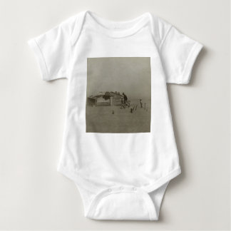 Farmer and Sons Walking in a Dust Storm Baby Bodysuit