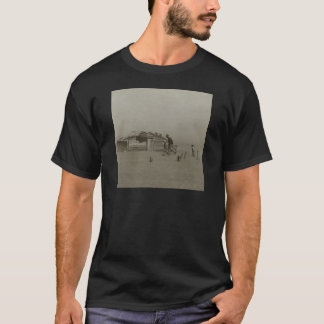 Farmer and Sons Walking in a Dust Storm T-Shirt