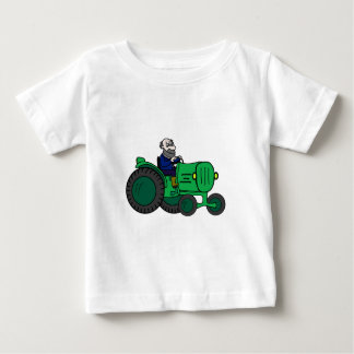 Farmer and Tractor Baby T-Shirt