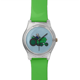Farmer and Tractor Wrist Watch
