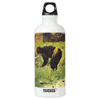 Farmer at work by Georges Seurat Aluminum Water Bottle