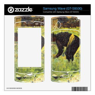 Farmer at work by Georges Seurat Decal For Samsung Wave