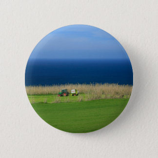 Farmer at work pinback button