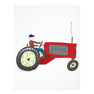 Farmer Bob on his tractor Letterhead