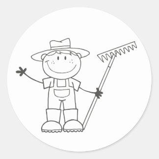 Farmer Boy Classic Round Sticker