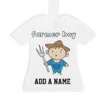 Farmer Boy Ornament