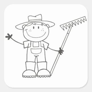 Farmer Boy Square Sticker