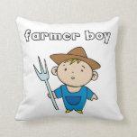 Farmer Boy Throw Pillows