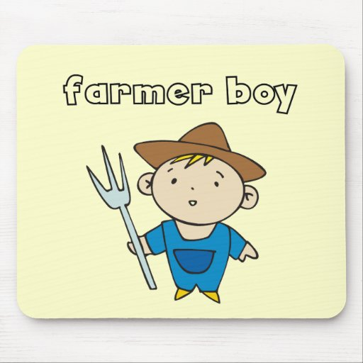 Farmer Boy Tshirts and Gifts Mouse Pad