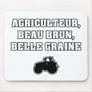 FARMER, BROWN BEAUTIFUL, BEAUTIFUL SEED - Word Mouse Pad