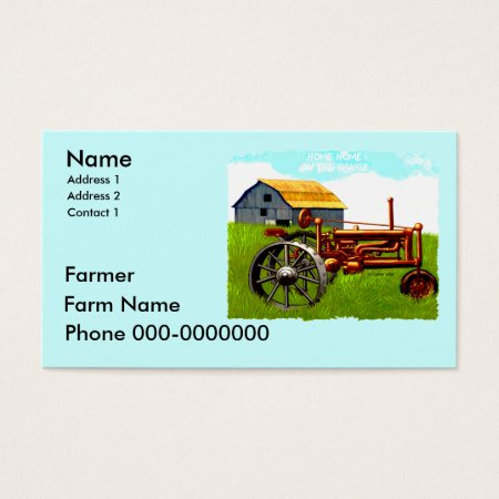 Barn and Tractor Farmer Business Cards