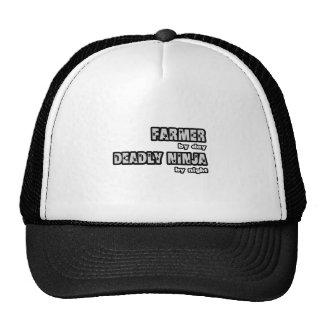 Farmer By Day...Deadly Ninja By Night Trucker Hat