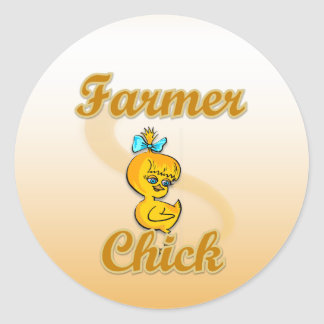 Farmer Chick Sticker