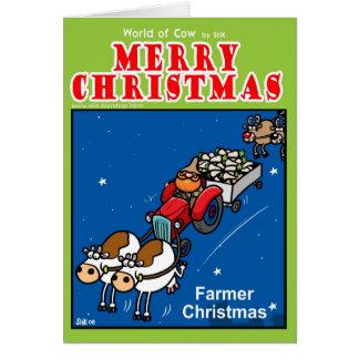 Farmer Christmas Card
