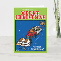 Farmer Christmas Holiday Card