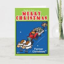 Farmer Christmas Holiday Card