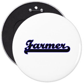 Farmer Classic Job Design 6 Inch Round Button