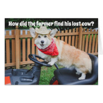 Farmer Corgi Birthday joke
