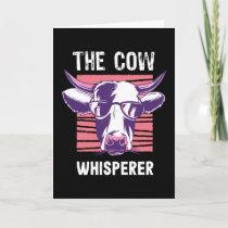 Farmer Cow Whisperer Funny Farming Gift Card