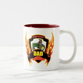 Farmer Dad Fathers Day Gifts Two-Tone Coffee Mug