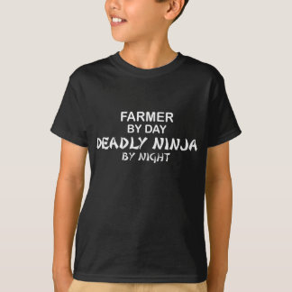 Farmer Deadly Ninja by Night T-Shirt