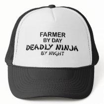 Farmer Deadly Ninja by Night Trucker Hat