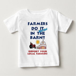 Farmer do it in the barn baby T-Shirt