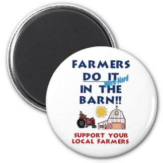 Farmer do it in the barn magnet