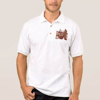 Farmer Driving Vintage Tractor Retro Polo Shirt