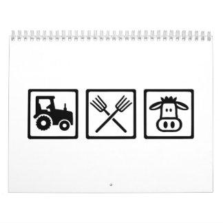 Farmer equipment calendar