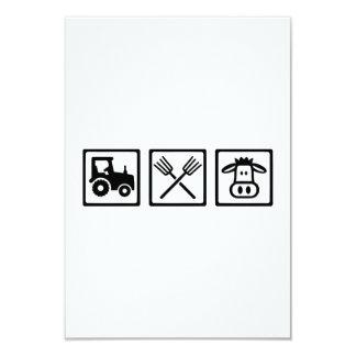 Farmer equipment 3.5x5 paper invitation card