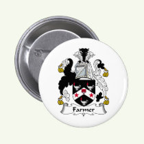 Farmer Family Crest Button