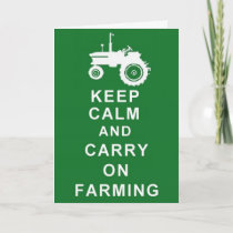 Farmer  Farm Greetings or Birthday Card Tractor