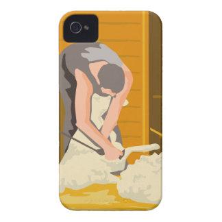 Farmer Farmworker Shearing Sheep WPA Case-Mate iPhone 4 Case