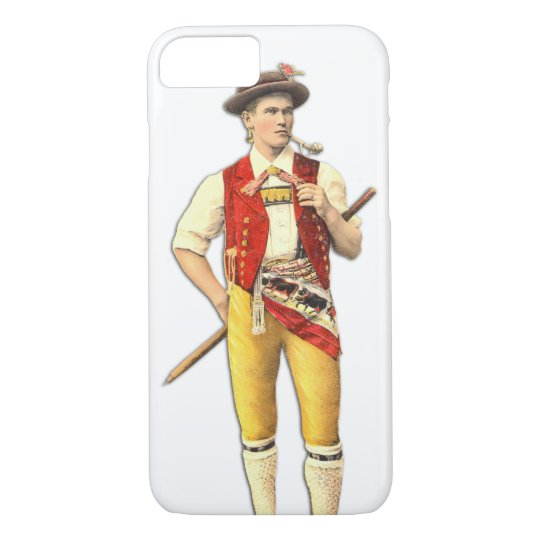 Farmer from Appenzell, Switzerland, Swiss Flag iPhone 8/7 Case