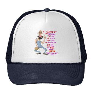 Farmer funny cartoon trucker hat