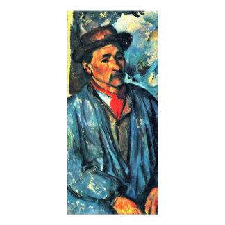 Farmer In Blue Overalls By Paul Cézanne Custom Rack Card
