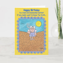 FARMER IN FIELD Birthday Card