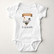 Farmer in Real Life Funny Baby Bodysuit